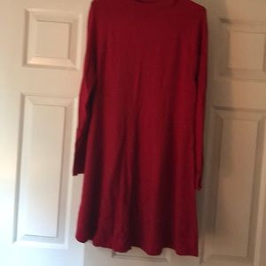 Red LOFT sweater dress
